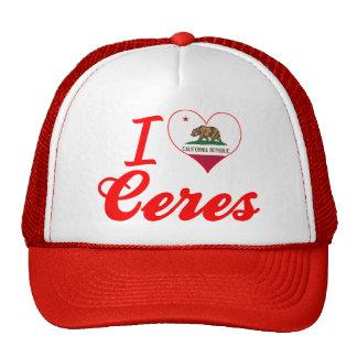 I Love Ceres, California Trucker Hat
