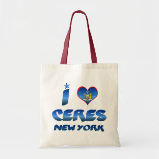 I love Ceres, New York Canvas Bag
