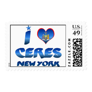 I love Ceres, New York Stamps