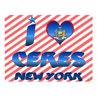 I love Ceres, New York Post Cards