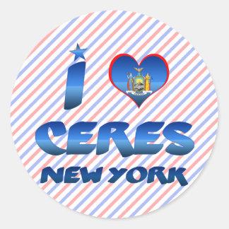 I love Ceres, New York Stickers