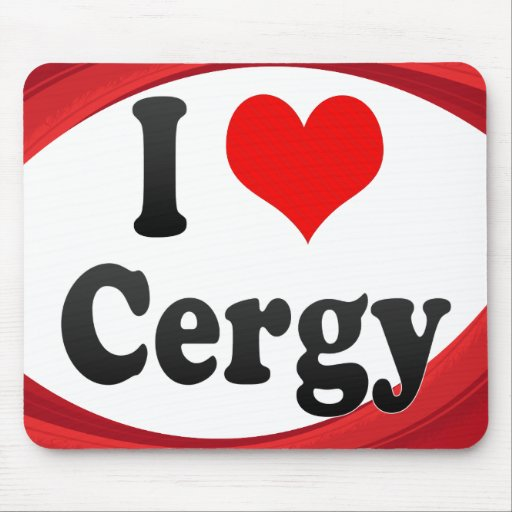 I Love Cergy, France Mouse Pads
