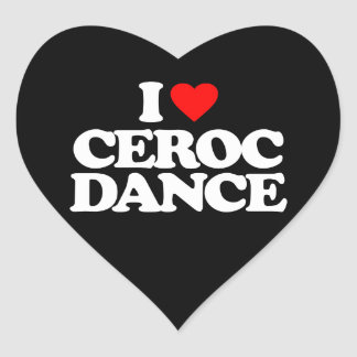 I LOVE CEROC DANCE HEART STICKER