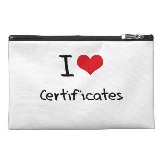 I love Certificates Travel Accessories Bag