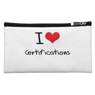 I love Certifications Makeup Bags