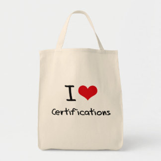 I love Certifications Canvas Bags