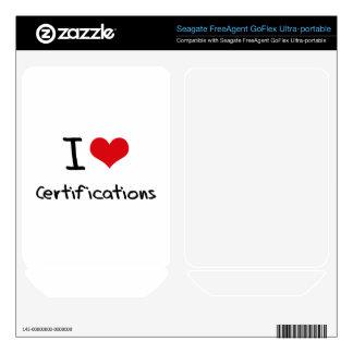 I love Certifications FreeAgent GoFlex Decals