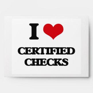 I love Certified Checks Envelopes