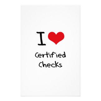I love Certified Checks Stationery Paper