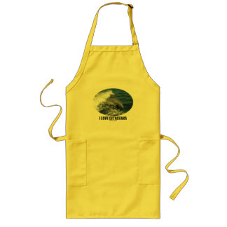 I Love Cetaceans (Bottlenose Dolphin Breaching) Long Apron
