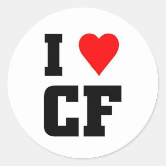 I love CF Classic Round Sticker