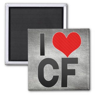 I Love CF Refrigerator Magnets