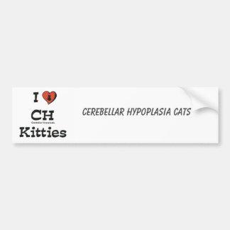 I Love CH Kitties Bumper Sticker