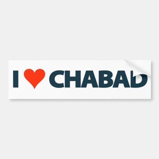 I LOVE CHABAD BUMPER STICKER CAR BUMPER STICKER