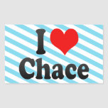 I love Chace Rectangular Stickers