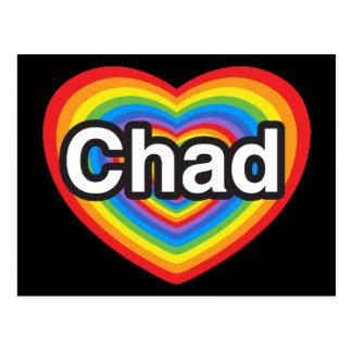 I love Chad. I love you Chad. Heart Postcard