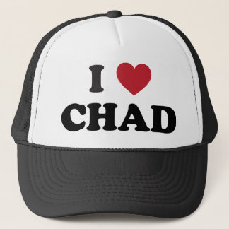 I Love Chad Trucker Hat