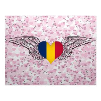 I Love Chad -wings Postcard