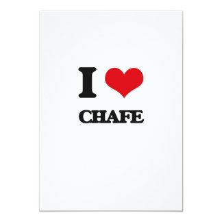 I love Chafe 5x7 Paper Invitation Card