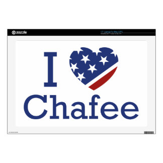"I Love Chafee 17"" Laptop Skin"