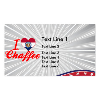 I Love Chaffee, Missouri Double-Sided Standard Business Cards (Pack Of 100)