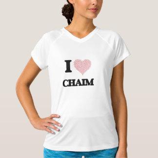 I Love Chaim (Heart Made from Love words) Shirt