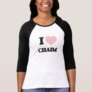 I Love Chaim (Heart Made from Love words) Shirts