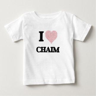 I Love Chaim (Heart Made from Love words) Tshirts