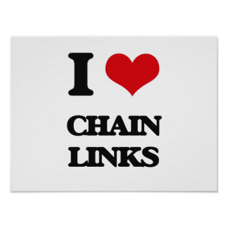 I love Chain Links Posters