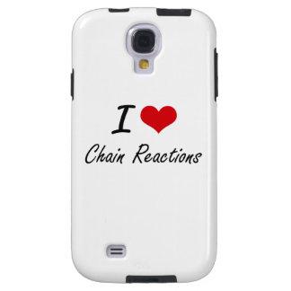 I love Chain Reactions Artistic Design Galaxy S4 Case