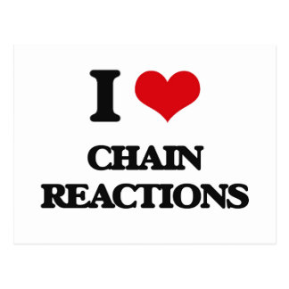 I love Chain Reactions Postcards