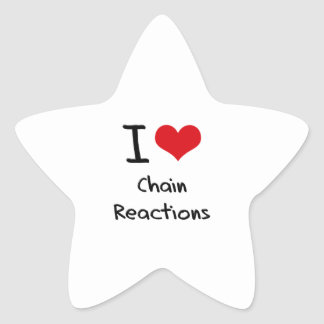I love Chain Reactions Star Sticker