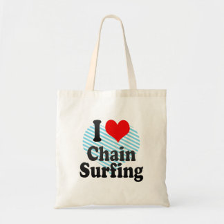 I love Chain Surfing Tote Bag