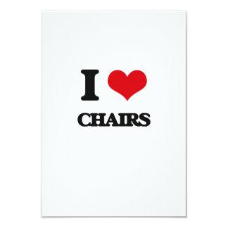 I love Chairs 3.5x5 Paper Invitation Card
