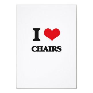 I love Chairs 5x7 Paper Invitation Card