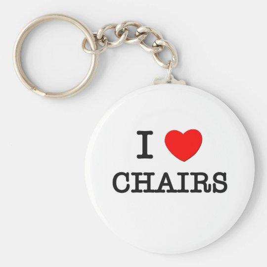 I Love Chairs Keychain