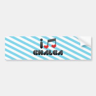 I Love Chalga Car Bumper Sticker