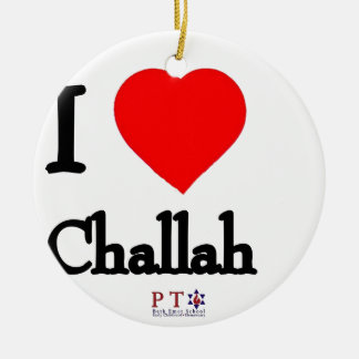 I love challah ceramic ornament