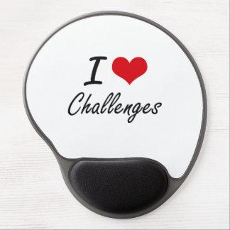 I love Challenges Artistic Design Gel Mouse Pad