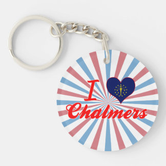 I Love Chalmers, Indiana Acrylic Keychains