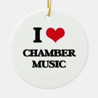 I love Chamber Music Double-Sided Ceramic Round Christmas Ornament