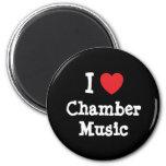 I love Chamber Music heart custom personalized Fridge Magnets
