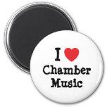 I love Chamber Music heart custom personalized Refrigerator Magnets