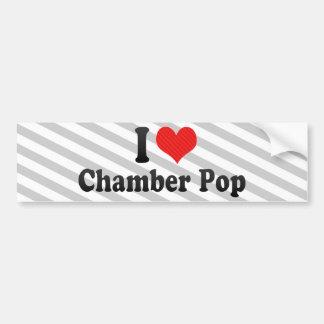 I Love Chamber Pop Car Bumper Sticker