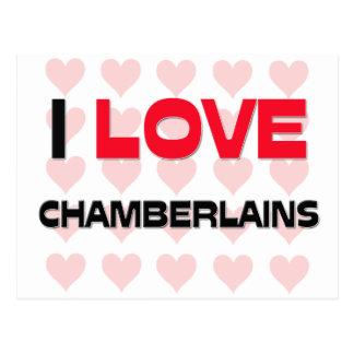 I LOVE CHAMBERLAINS POSTCARD
