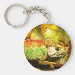 i love chameleons Digital art Key Chains