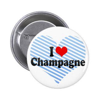 I Love Champagne Button