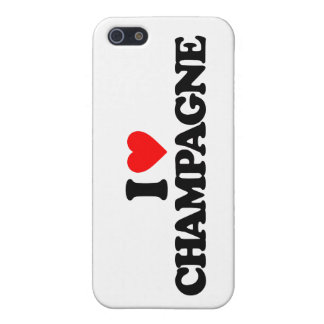 I LOVE CHAMPAGNE COVER FOR iPhone SE/5/5s