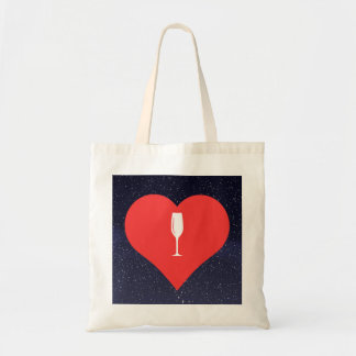 I Love Champagne Glasses Cool Icon Tote Bag