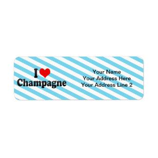 I Love Champagne Label